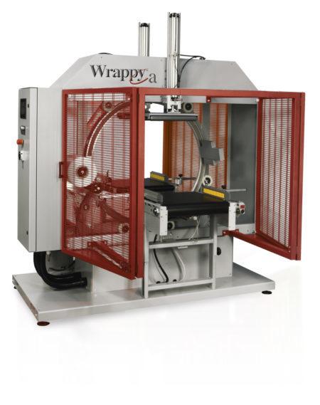 WRAPPY A Envolvedora Orbital Horizontal Automática Maquina automática de anillo giratorio para envolver en espiral con film extensible.